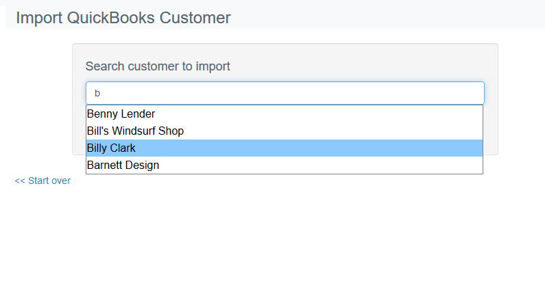 Import customer