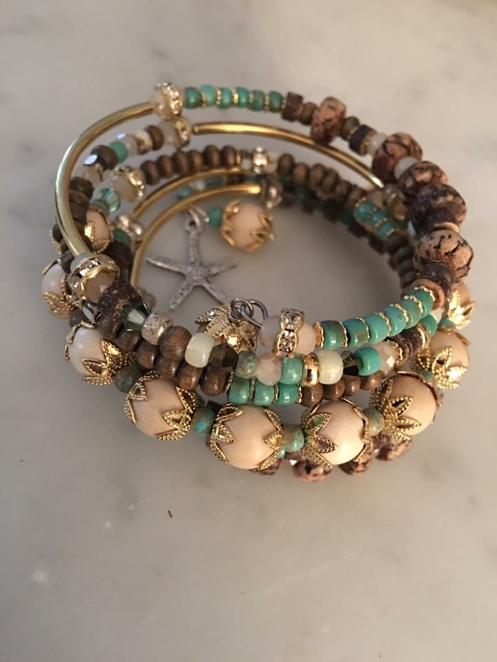 Multi Wrap Bountiful Memory Cuff:  Create a one-of-a-kind bracelet with a bounty of beads of your choice! Great beginner class. $35 plus materials, 60 mins.