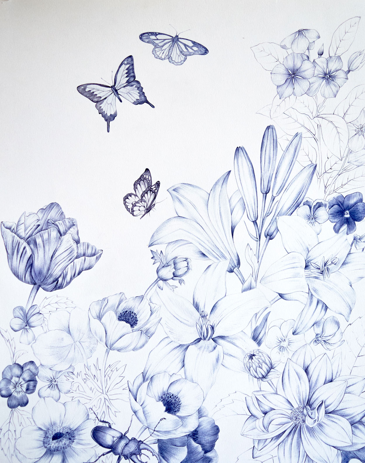 Eros garden- diptych, 1/2