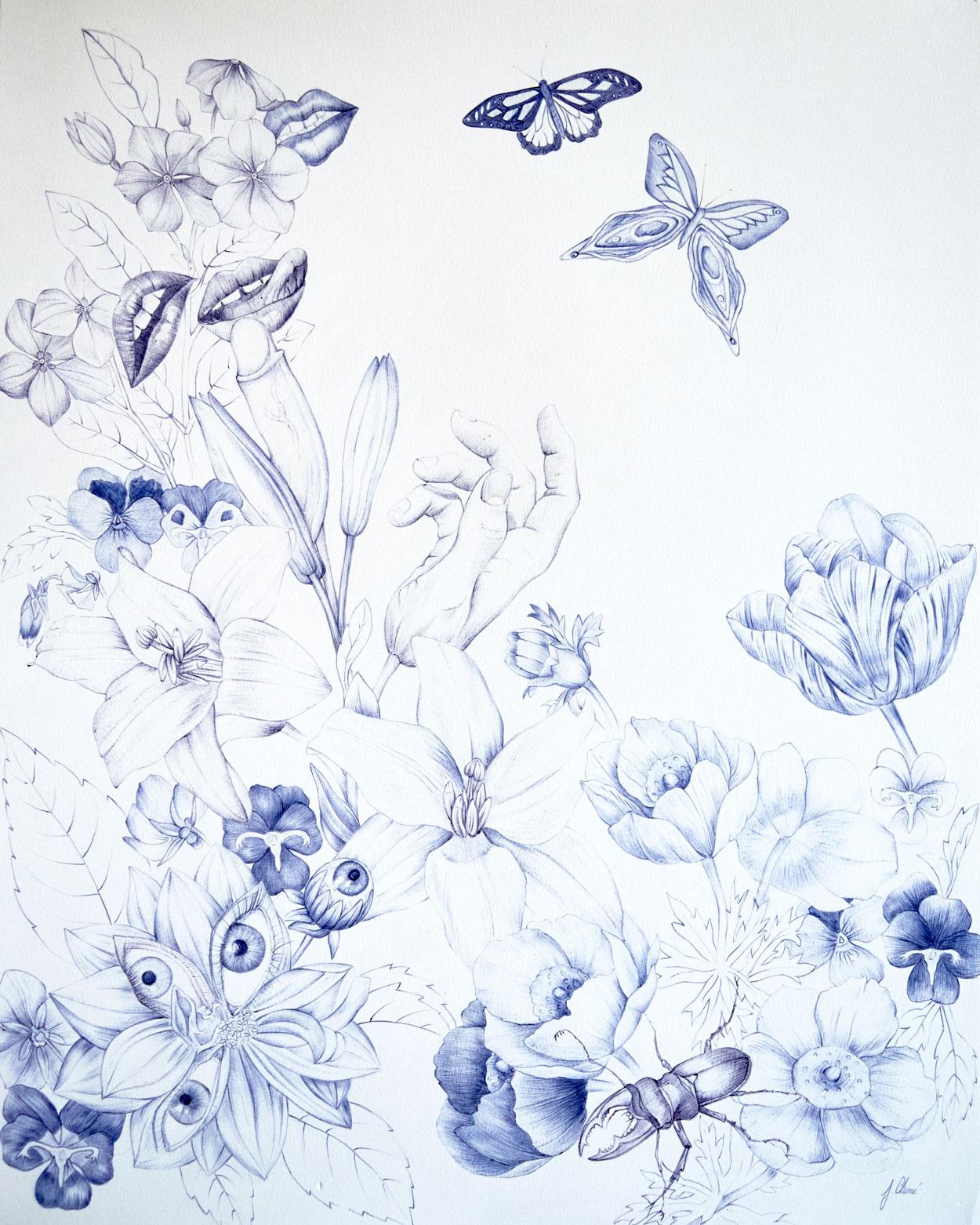 Eros garden- diptych, 2/2