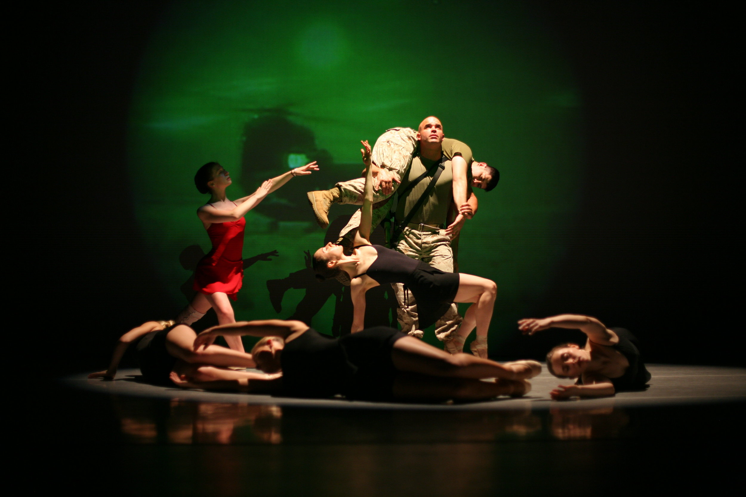 """Exit12 Dance Company   Name: Roman Baca Dance Theatre and Choreography  """"It has changed my life by allowing me to explore & investigate unresolved themes that were associated with my service."""""""