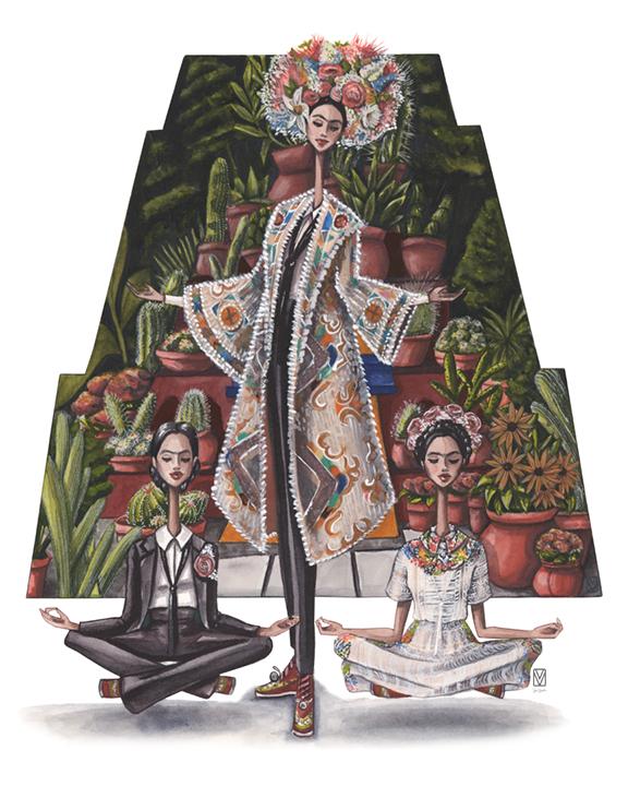 Tres Fridas in Valentino, 2017