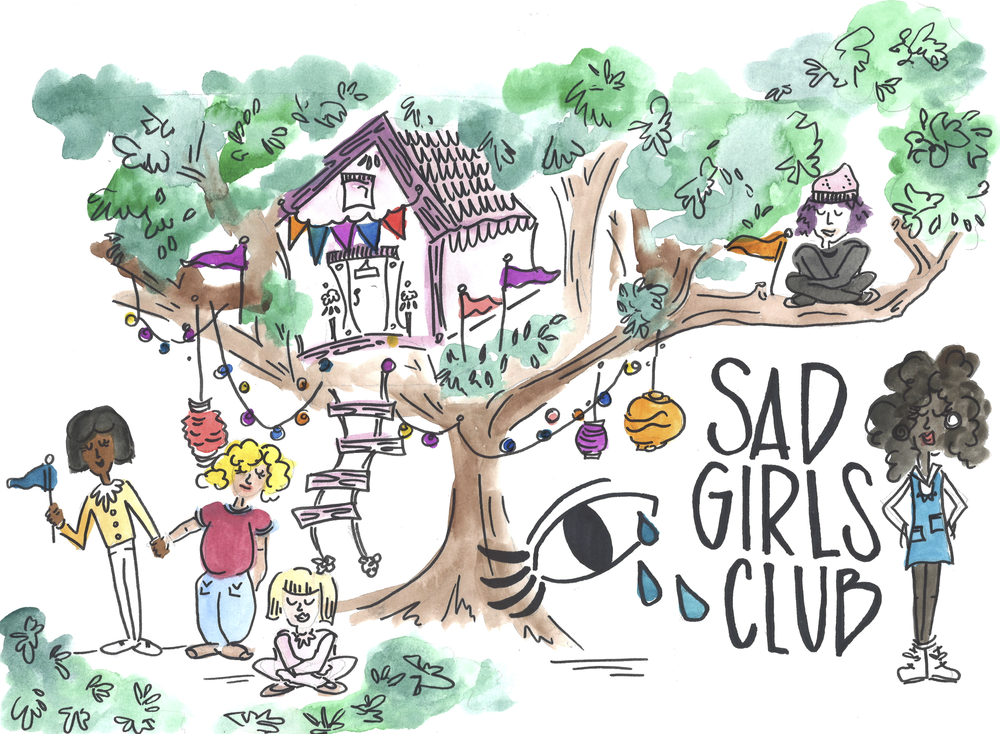 Sad Girls Club - Sad Girls Club focuses on mental health awareness and advocacy for young women through social media and live dialogues.Learn more ➝