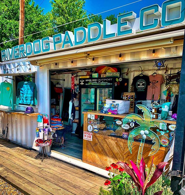 Happy Friday River Dog peeps! We've cleared out the cabana bar to make room for more River Dog merchandise coming soon.  But we need your help ~ come and get the previous season merch out of the way for us ~ $5 for just about everything in the shop.  And while we're at it, the SweetWater River Dog draft has been so popular this week, we're flying thru the kegs.  Come on by and have a pint with us in the shade by the river ~ $4 a pint all day until 7pm. It's the most delicious Summertime beer your mouth needs! 🍻🤓🤙🏻 #riverdogoutpostandpaddleco #beergarden #paddleboardshop #morethanalifestyle #downbytheriver #yourfriendsdrinkhere #fridayhappyhour #romegeorgia #downtownromega #cabanabar #containerbar #supshop #riverdog