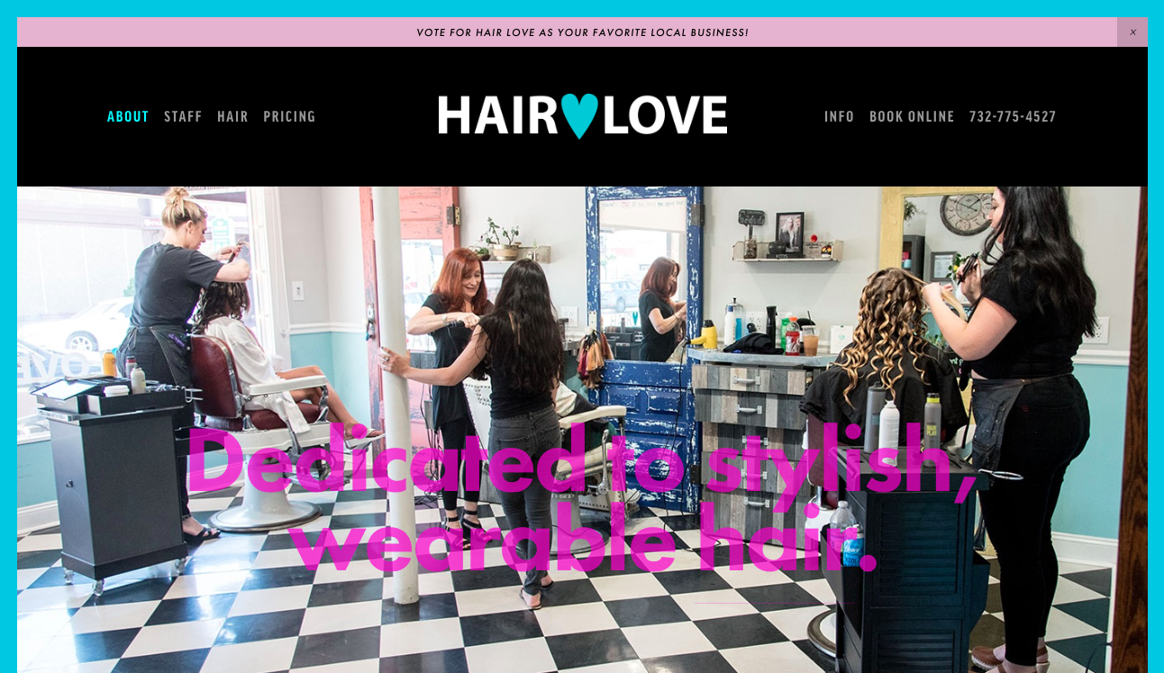 Hair Love Salon website redesign