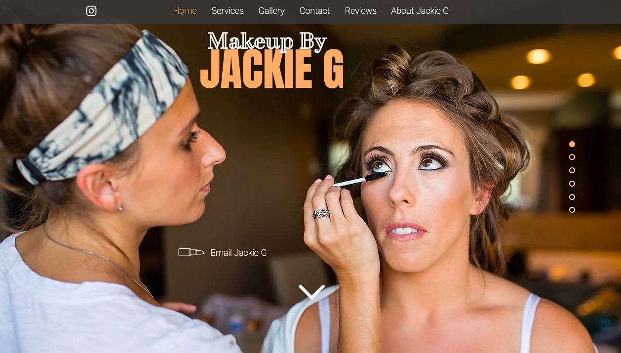 Makeup by Jackie G website