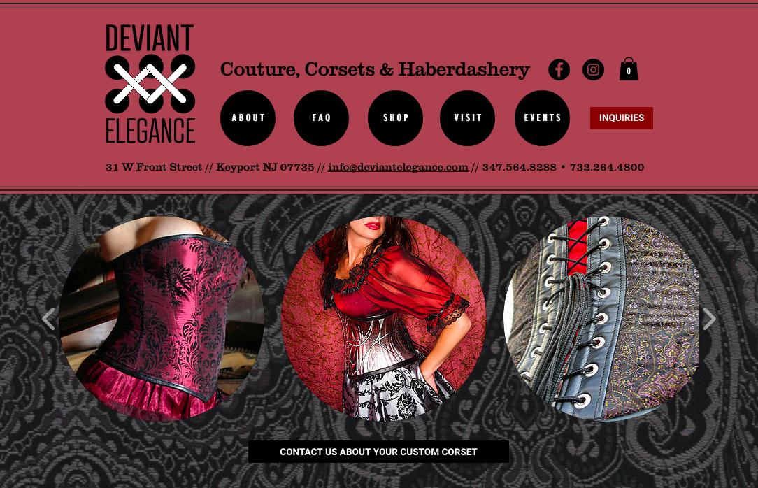 Deviant Elegance logo & website