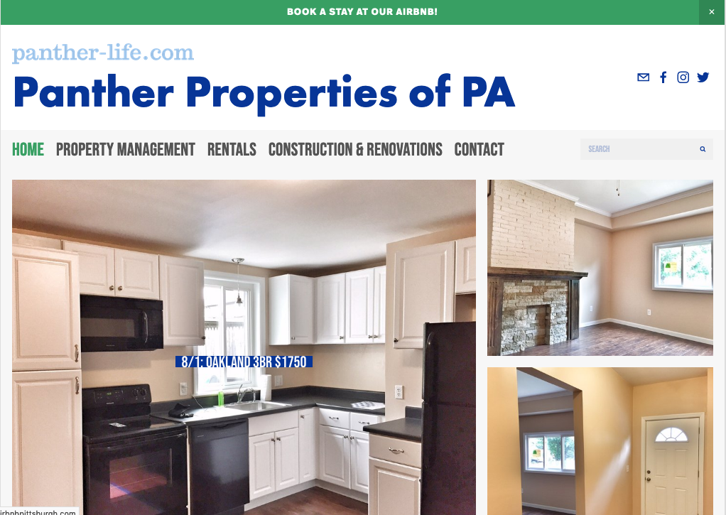 Panther Properties website