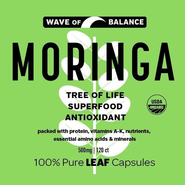 Moringa label design