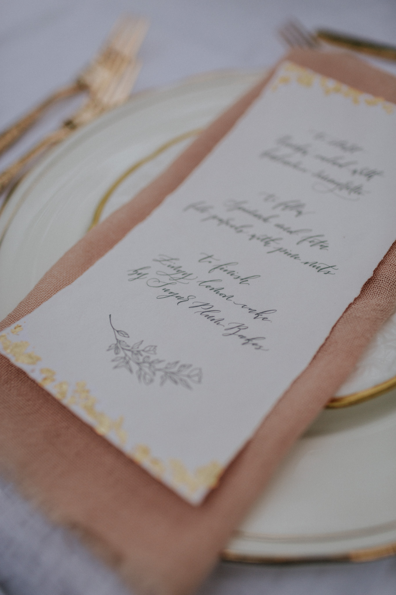 I used a slightly more bohemian but luxurious calligraphy style to fit the mood of the editorial.