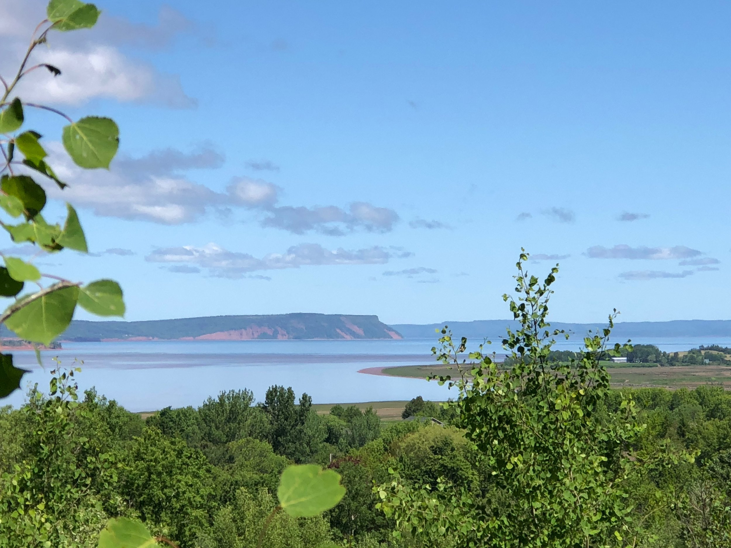 The view of Wolfville Harbour and Cape Blomidon from Reservoir Park in Wolfville.