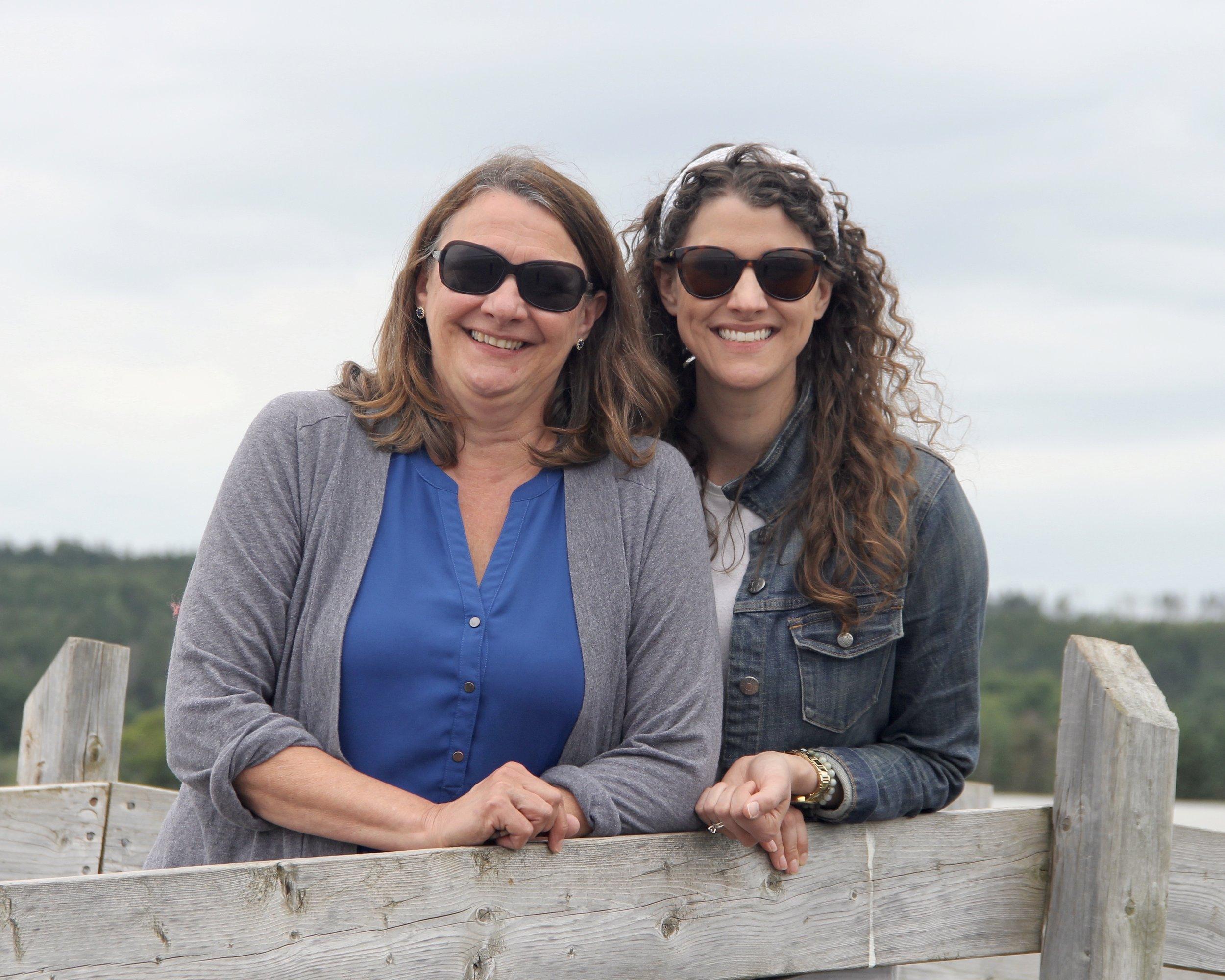 Anita and Alison at Scot's Bay, Nova Scotia