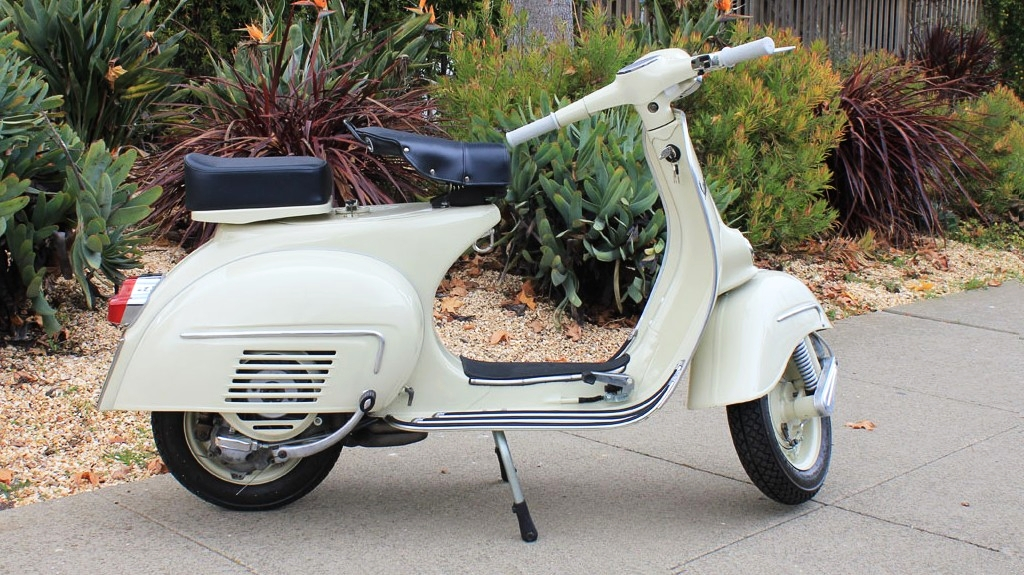 1963 VESPA GL (IC-112) - The Vespa G.L. is one of the most harmonious of the Vespa designs. It just looks right from every angle. The soft curves and nice trim set it off nicely.