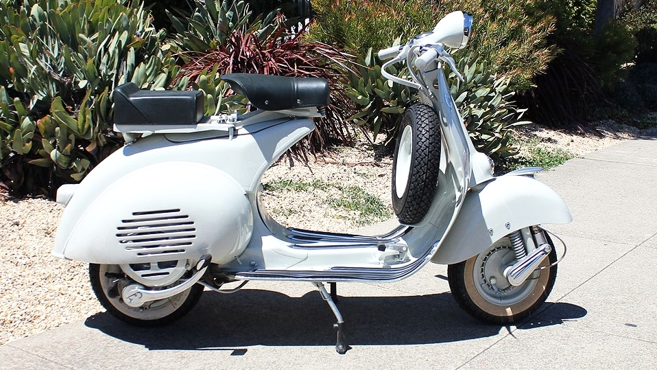 1956 VESPA HANDLEBAR (C-155) - This is an extremely nice 1956 Vespa. We restored this scooter from the ground up in our Italian restoration shop. What a beauty!