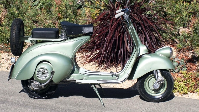 1949 VESPA ROD MODEL (IC-204) - This Vespa was firmly within the very early design era. While probably not appropriate to be your daily driver, this would be a fun weekend cafe runner, or a huge hit at any scooter or collector car event.