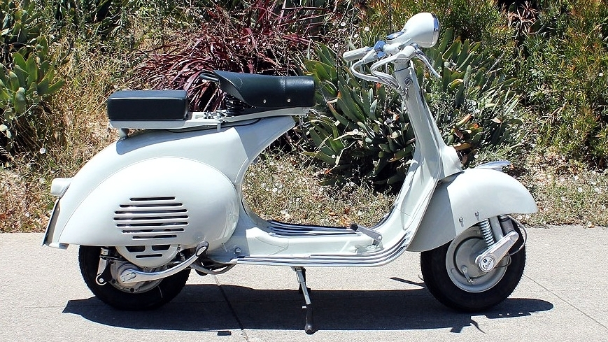 1955 VESPA HANDLEBAR (C-119) - This is the sort of scooter that gives one a real sense as to why people walked into a showroom and bought one. This scooter was restored from the ground up in our Italian shop.
