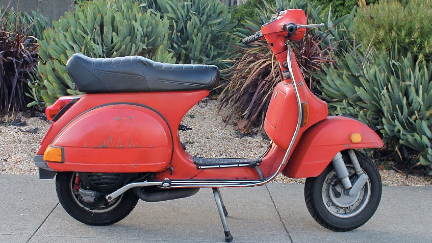 1980 VESPA P125X (BM-214) - The P-series Vespas were among the most popular of all the Vespas. They were made for almost 30 years, then the production run just recently ended. The perfect commuter scooter or a fun entry into the world of vintage scootering.