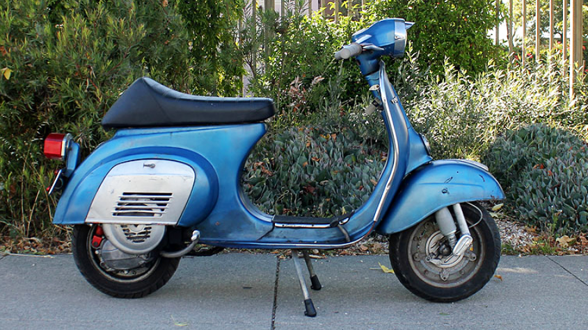 1975 VESPA PRIMAVERA (BM-247) - If you are looking for the perfect city scooter, this is it! The Primavera is light and easily maneuverable; small and easy to park anywhere. Lane-splitting is a breeze.