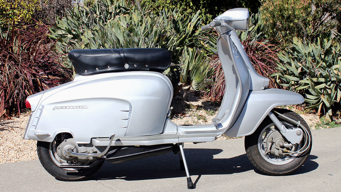 1964 LAMBRETTA 150 SPECIAL (L-54) - The highlight really is the sweet close-ratio gearbox that makes these scooters stand out. This scooter was restored in Italy, and it is very nice looking example.