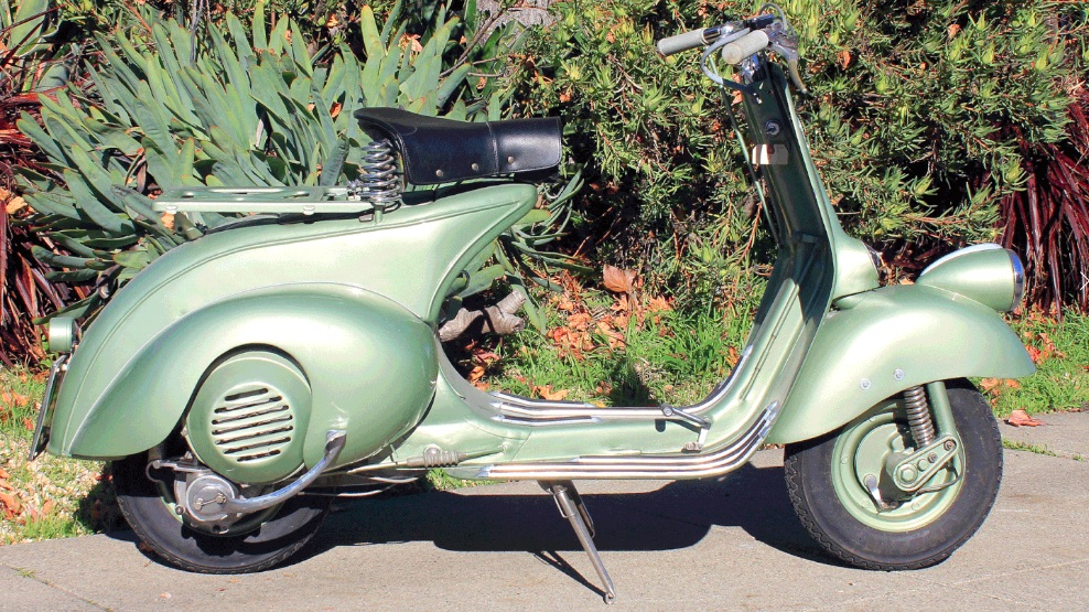 1950 VESPA ROD MODEL (C-159) - These were utilitarian vehicles when they were new, and many were simply used and thrown away. After seventy years, finding any Vespa from this era is not an easy task.