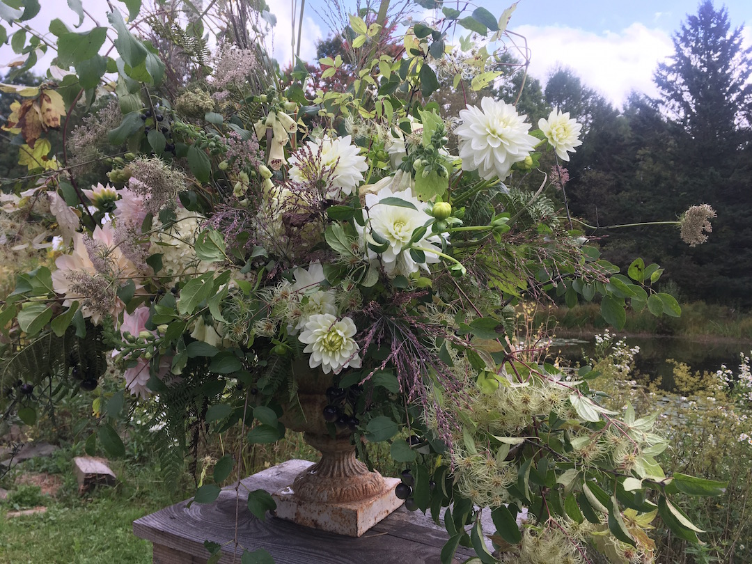 Ceremony flowers, upstate New York