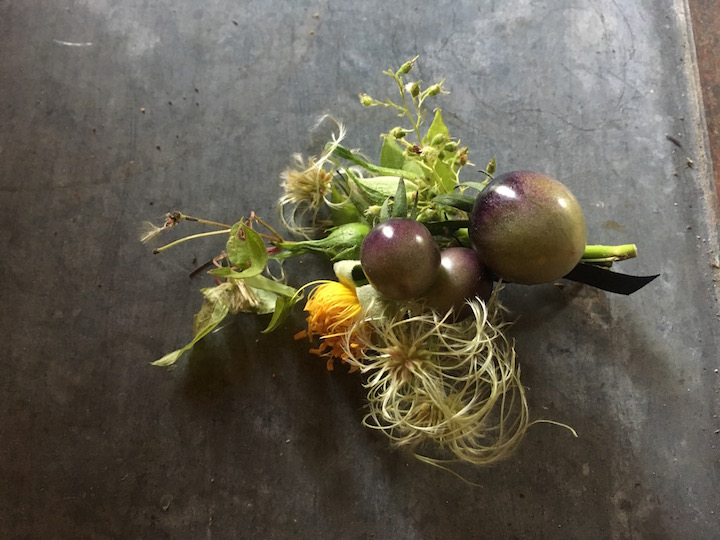 Unique fall boutonniere, upstate New York
