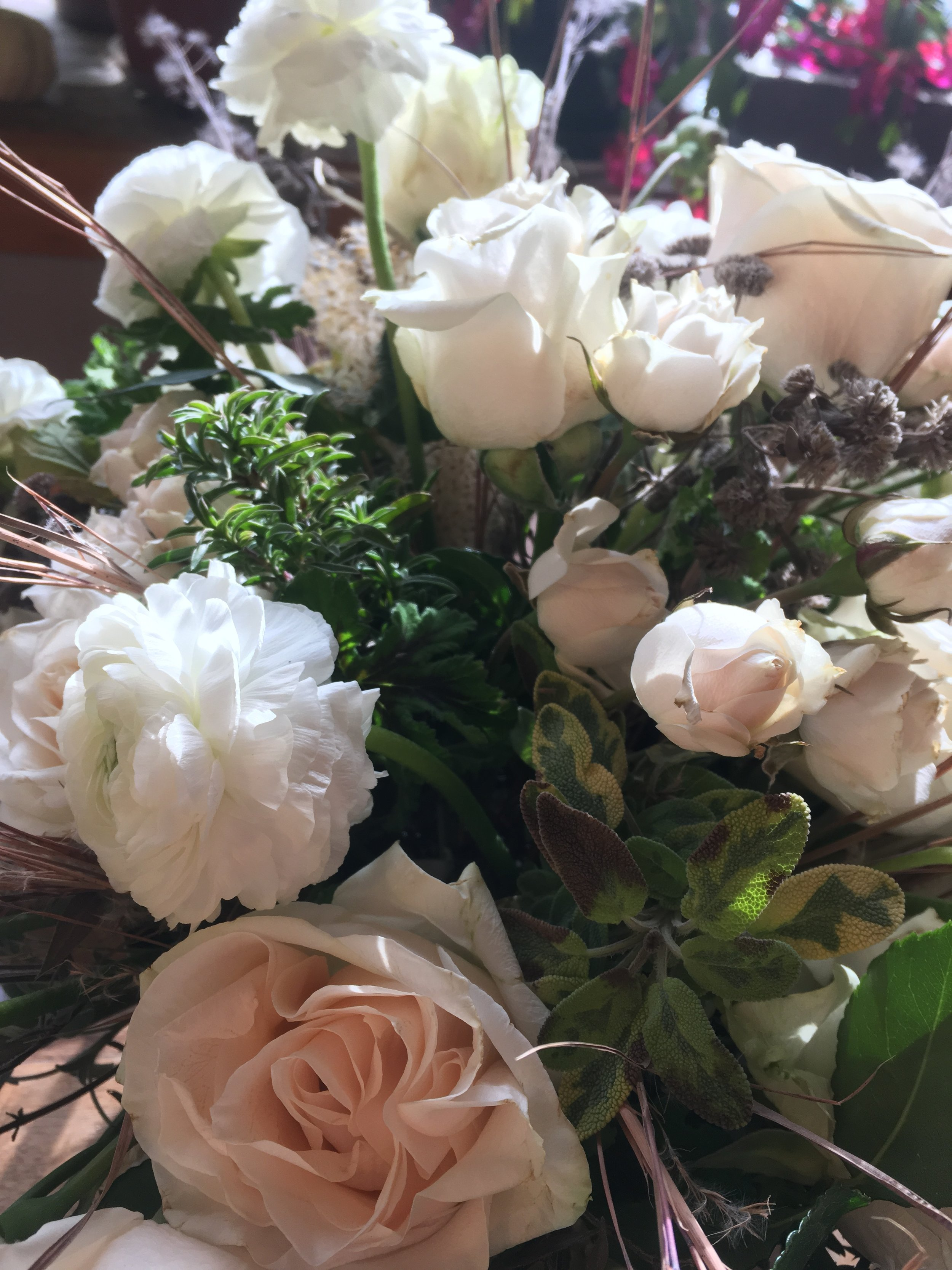 Stowe, Vermont winter elopement flowers