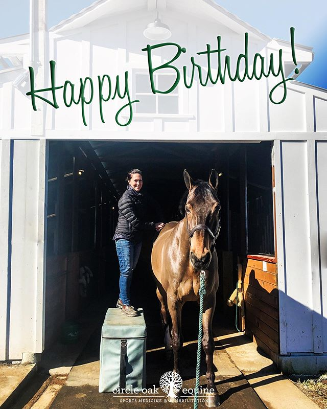 Happy Birthday to the fabulous Dr. Natalie Zdimal!  #happybirthday @dr_zdur #equinevet #horsevet #bestteam #circleoakequine