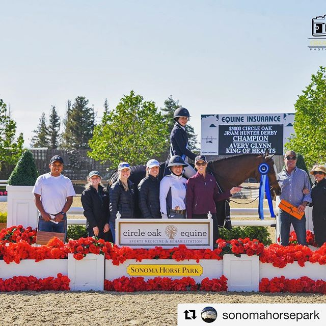 What a great derby and fabulous start to the season!  Looking forward to next Friday's derby. ・・・ #Repost @sonomahorsepark, 📸photo: @grandpix ・・・ Avery Glynn & King of Hearts took the win in the $5,000 @circleoakequine JR/AM Hunter Derby! #sonomahorsepark #circleoakequine #hunterderby #hunterjumper #horseshow #sonomahorsepark2019