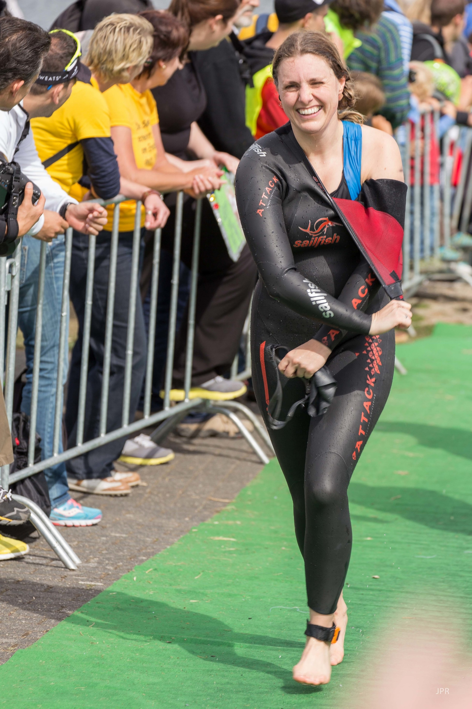 Me at the 2013 Cologne Triathlon weekend. Still smiling after the swim leg - it's going to look slightly less cheerful a few hours later...