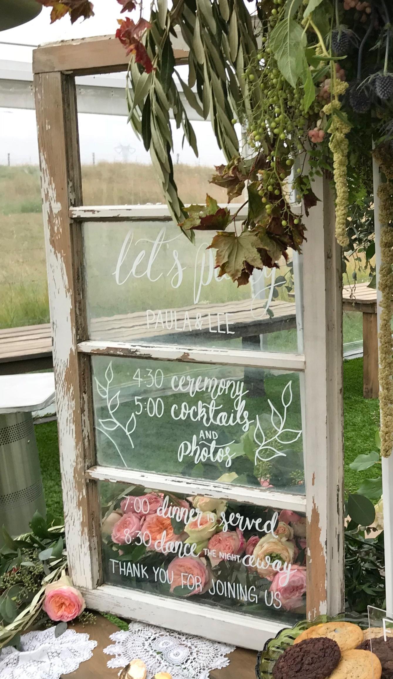 vintage windows wedding Calgary