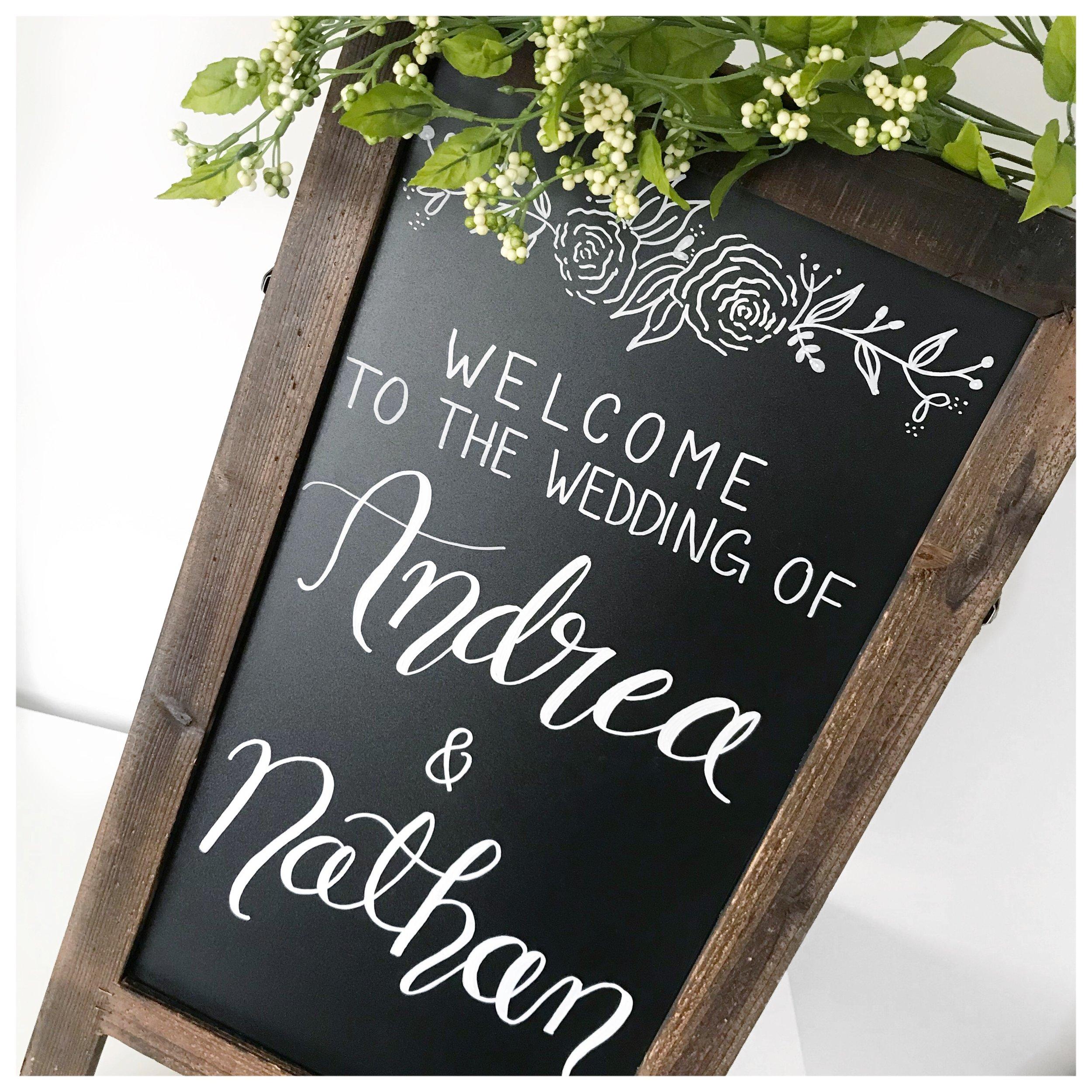 Calgary Wedding Signage Chalkboard