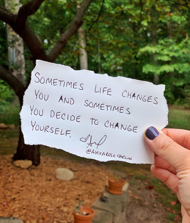 THIS IS IMPORTANT... ⠀ ⠀ Many times it may seem like change is scary or too hard and difficult. But let me ask you a question...⠀ ⠀ Have you ever left an experience feeling changed? Maybe it was a conference or a break up in a relationship or graduating from college or after a loved one passed away. These life experiences probably changed you in some way. So now the question becomes this one... ⠀ ⠀ If you were able to change before don't you think change is again possible in your future? Sometimes it's life that changes you and then sometimes you decide to change yourself. ⠀ ⠀ Both are possible and the good thing to realize is that when YOU decide the change, it often is for the better and helps you become better. ⠀ ⠀ So don't be afraid of change and definitely don't think it's too difficult or impossible. You can change your life at any Point after you simple decide. ⠀ ⠀ May not be able to change everything (I learned that through my health challenges) but you can change the way you perceive the circumstances and your life in general. So yes, change is possible and looks different for everyone.  #qotd #acqotd #inspiring #inspirationalquotes #change #motivation #instagram #positivity #goodvibes #quotes #inspiringwomen #womenempowerment #empowered #motivateme #inspireme