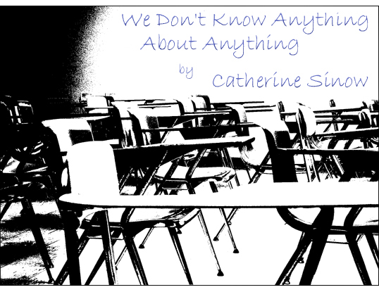 We Don't Know Anything About Anything