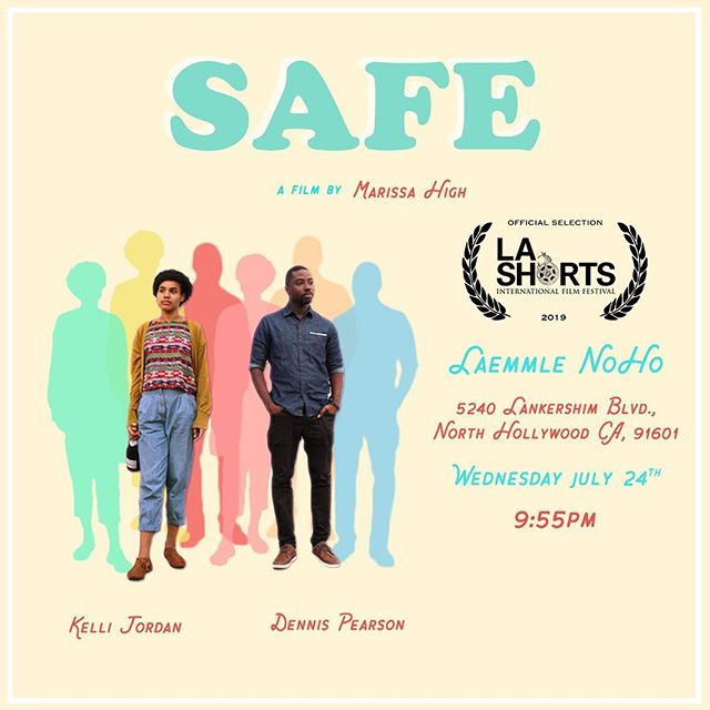 """I was fortunate to play a small role in """"Safe"""" directed by @marissahigh!  Come see it premiere at @lashortsfest Wednesday July 24th, at the @laemmletheatres Noho."""