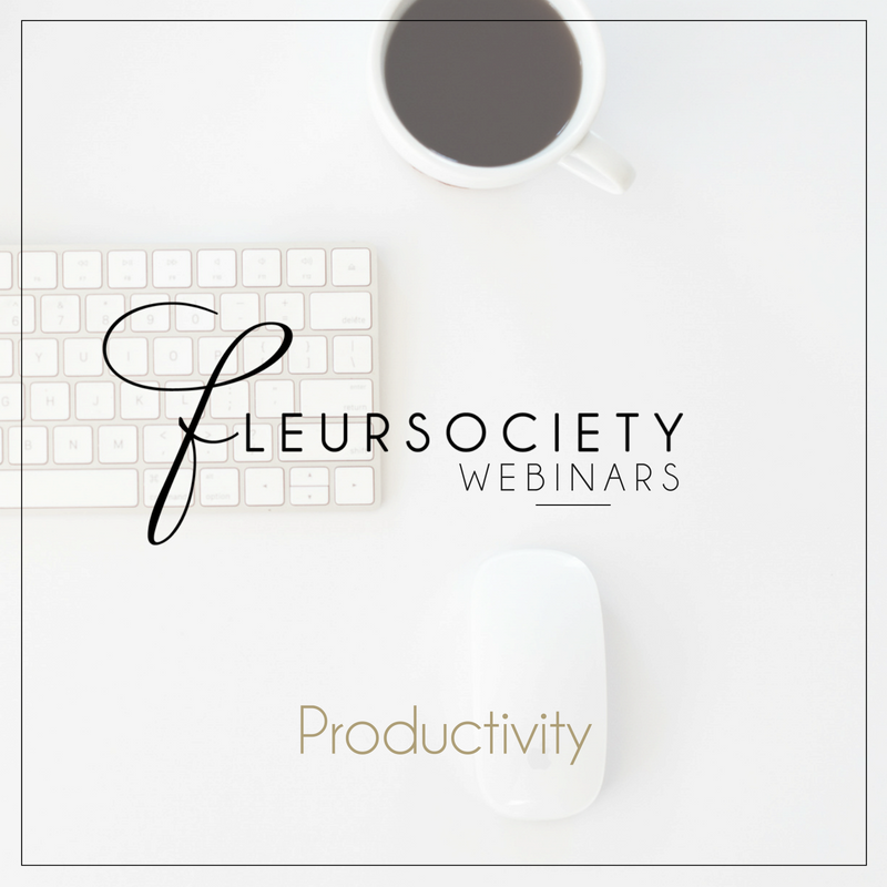 Fleursociety Productivity Webinar