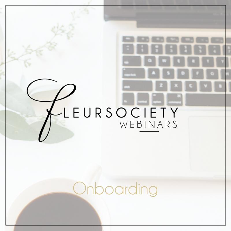 Fleursociety Onboarding Webinar