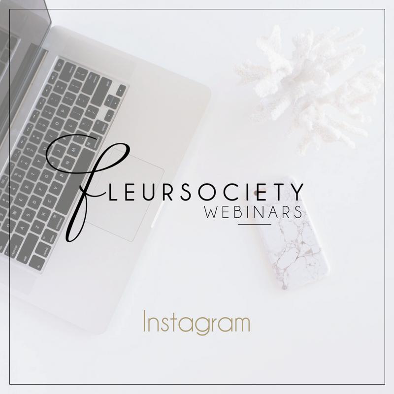 Fleursociety Instagram Webinar