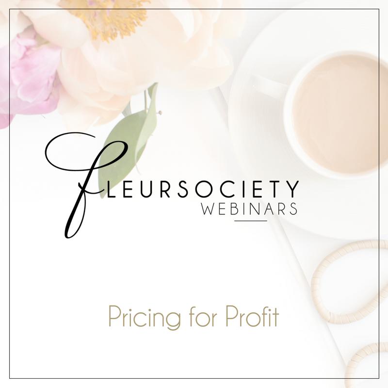 Fleursociety Pricing for Profit Webinar