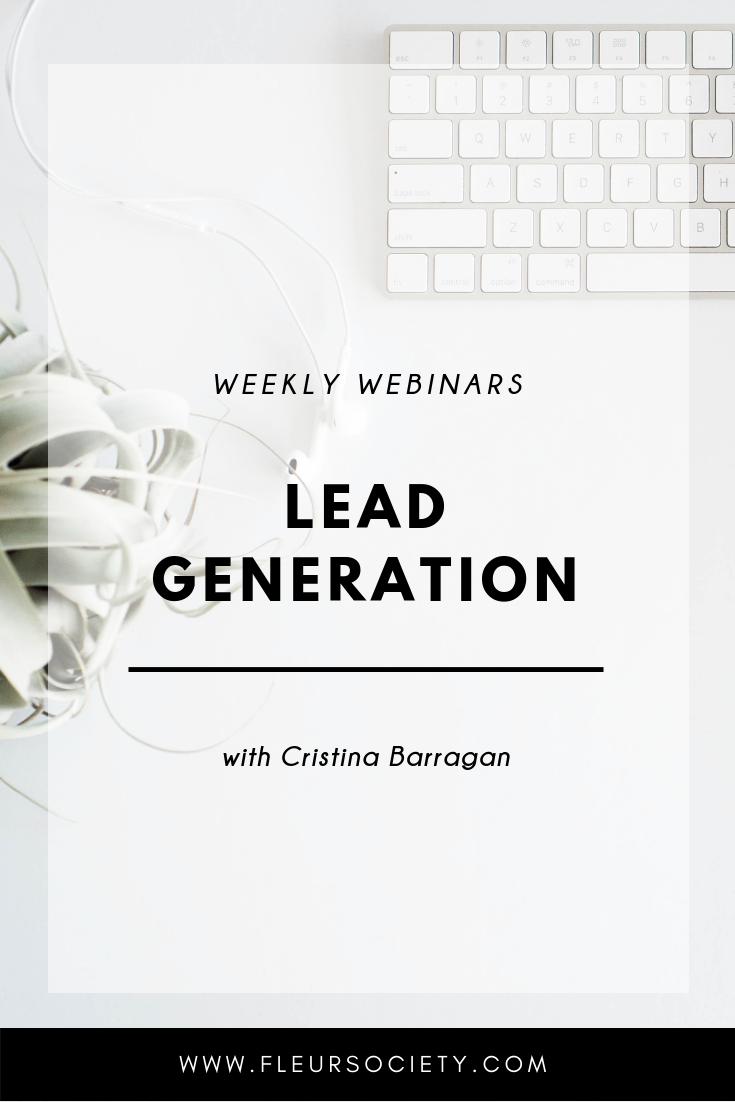 Fleursociety Lead Generation Weekly Webinar