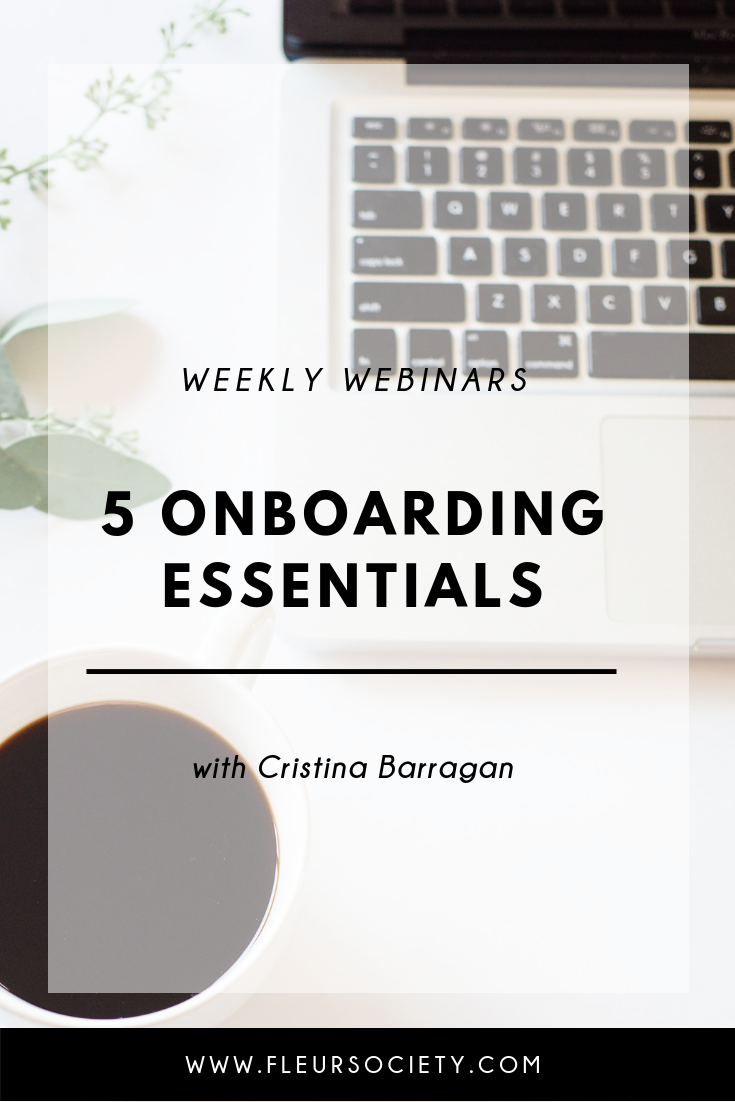 Fleursociety Weekly Webinars Onboarding