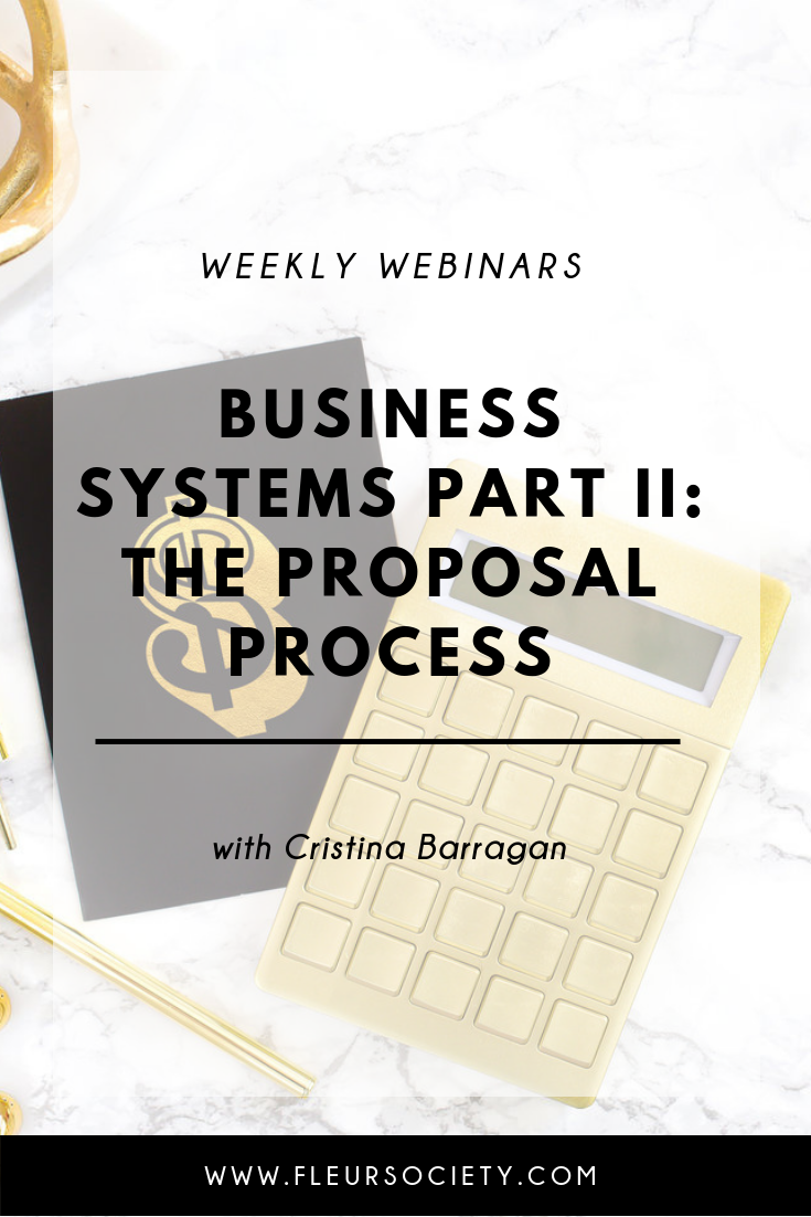 Business Systems Part II: The Proposal Process