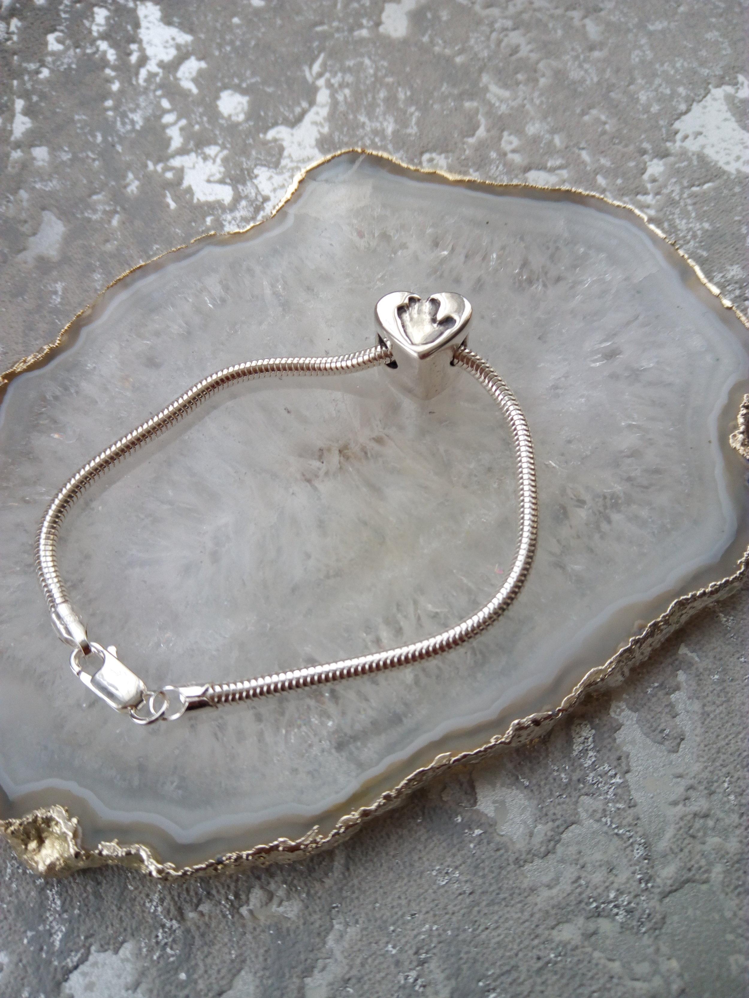 Handprint Bead Pandora Compatible   Bracelet.jpg