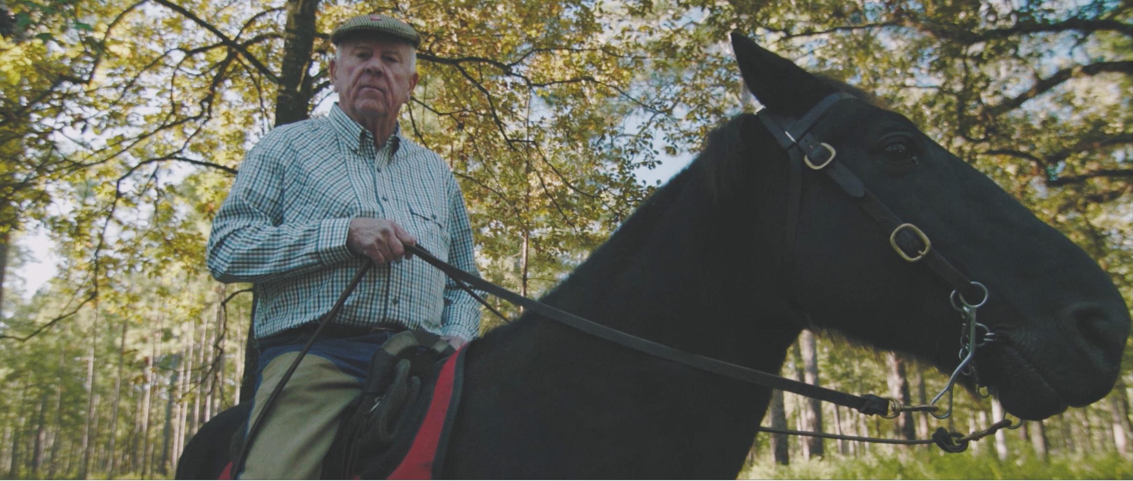 Older Gentleman on Horseback