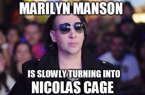 Marilyn Manson Nicolas Cage