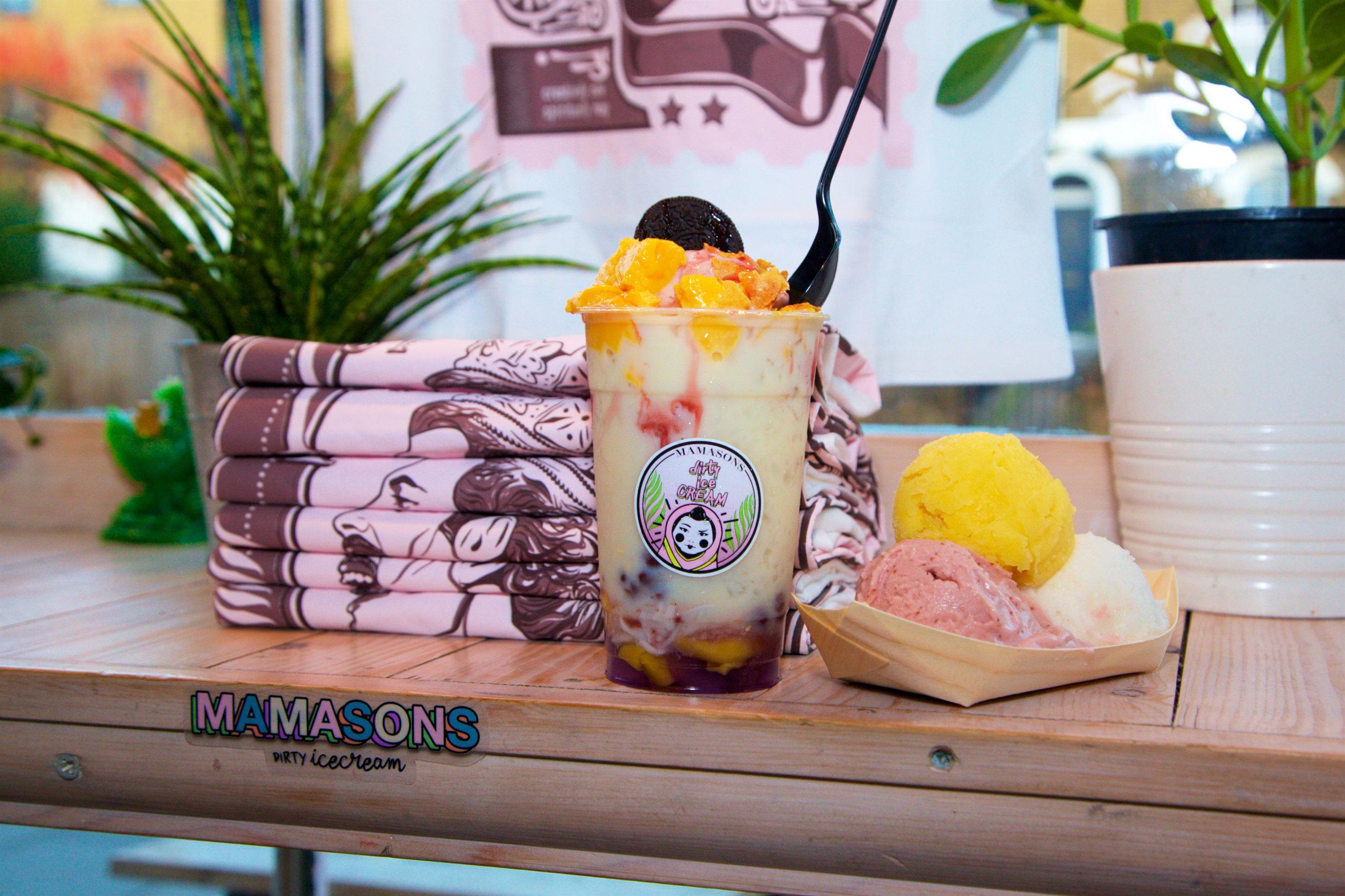 The new vegan halo halo at Mamasons—the Bohemian Raspberry!