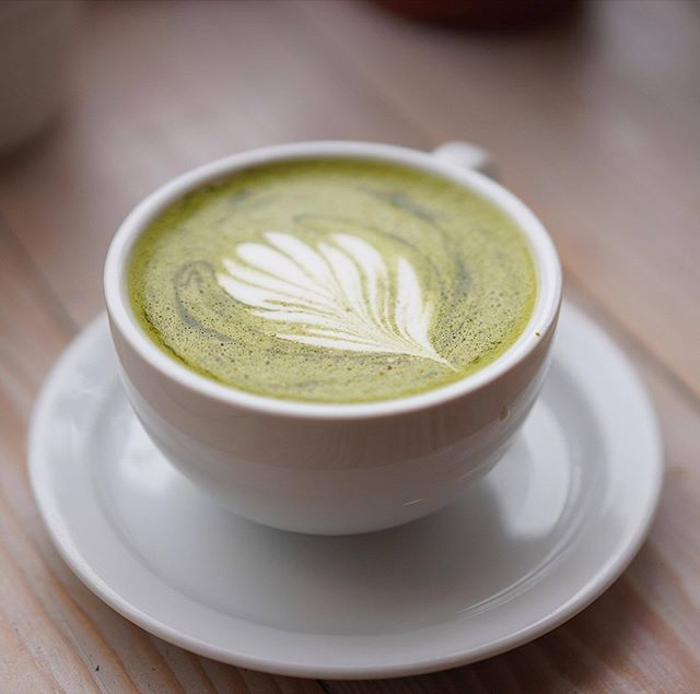 TGIF treat yourself this morning to a nice cup of our smooth and enlightening cup of Matcha Latte 😋 Hot or Iced #matcha #latte #coffee #TGIF #Fridayfeeling