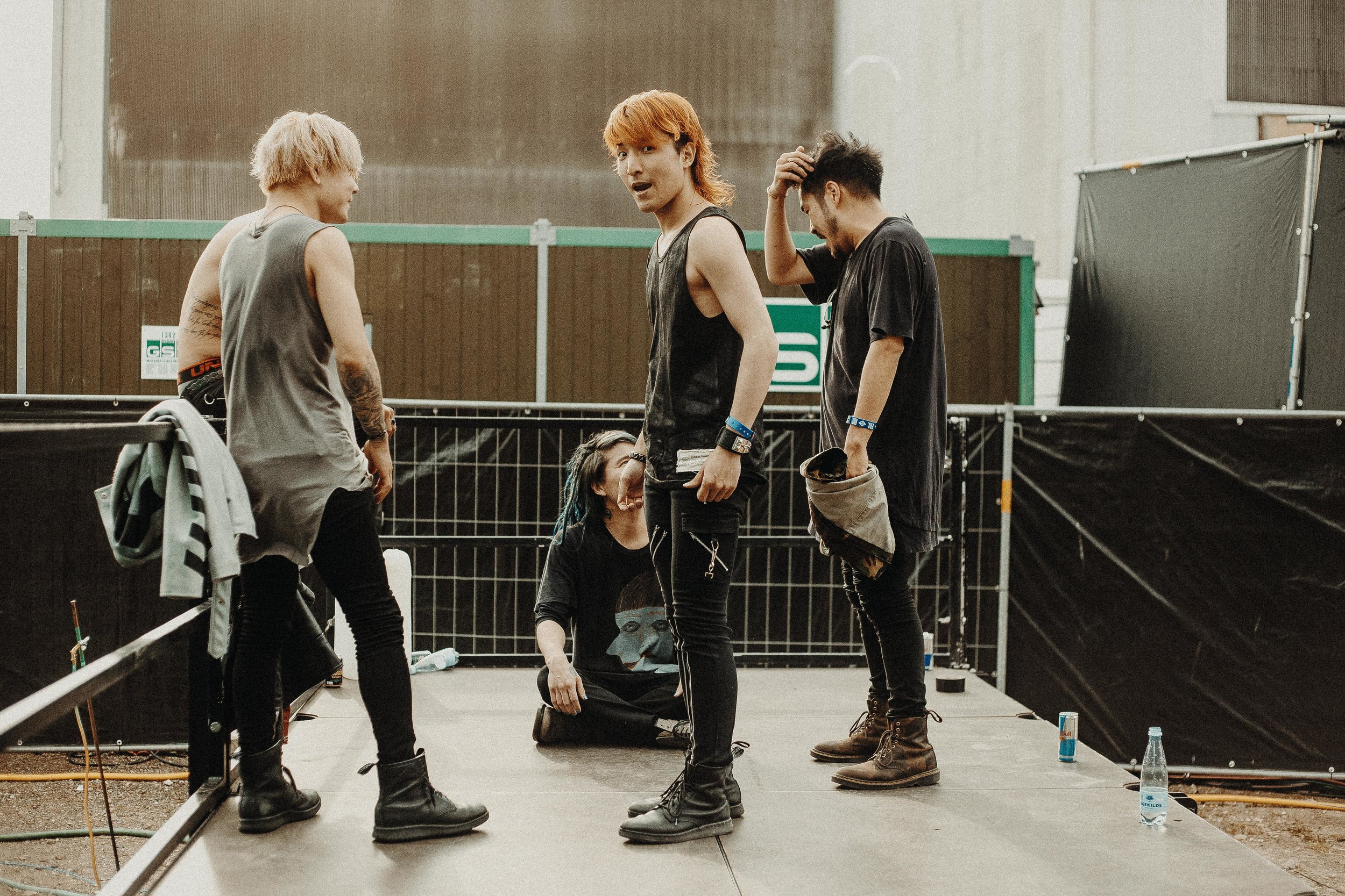Crossfaith after their set at Copenhell
