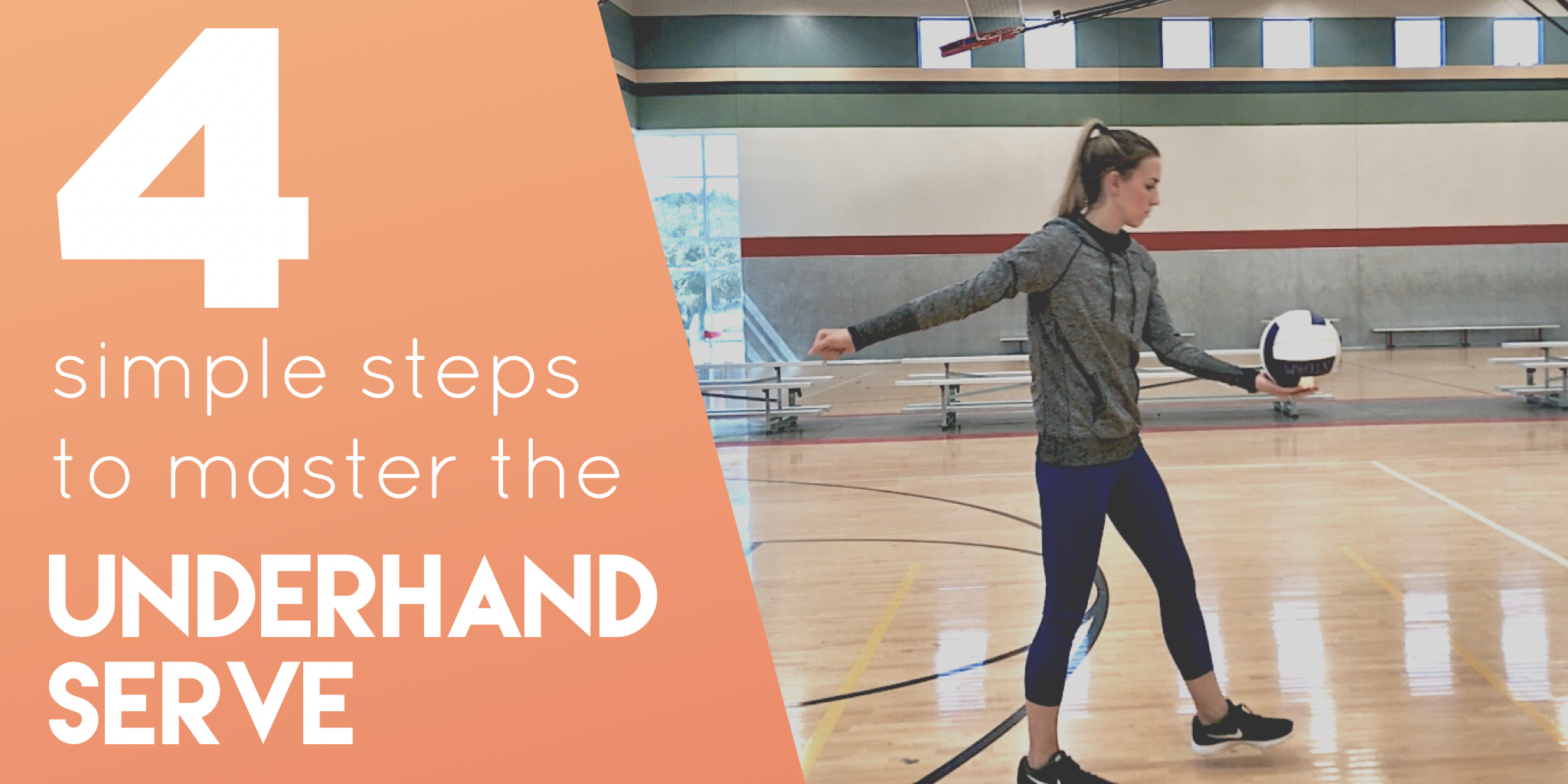Step by step breakdown of how to serve a volleyball underhand. Perfect for youth volleyball coaches and new volleyball coaches.
