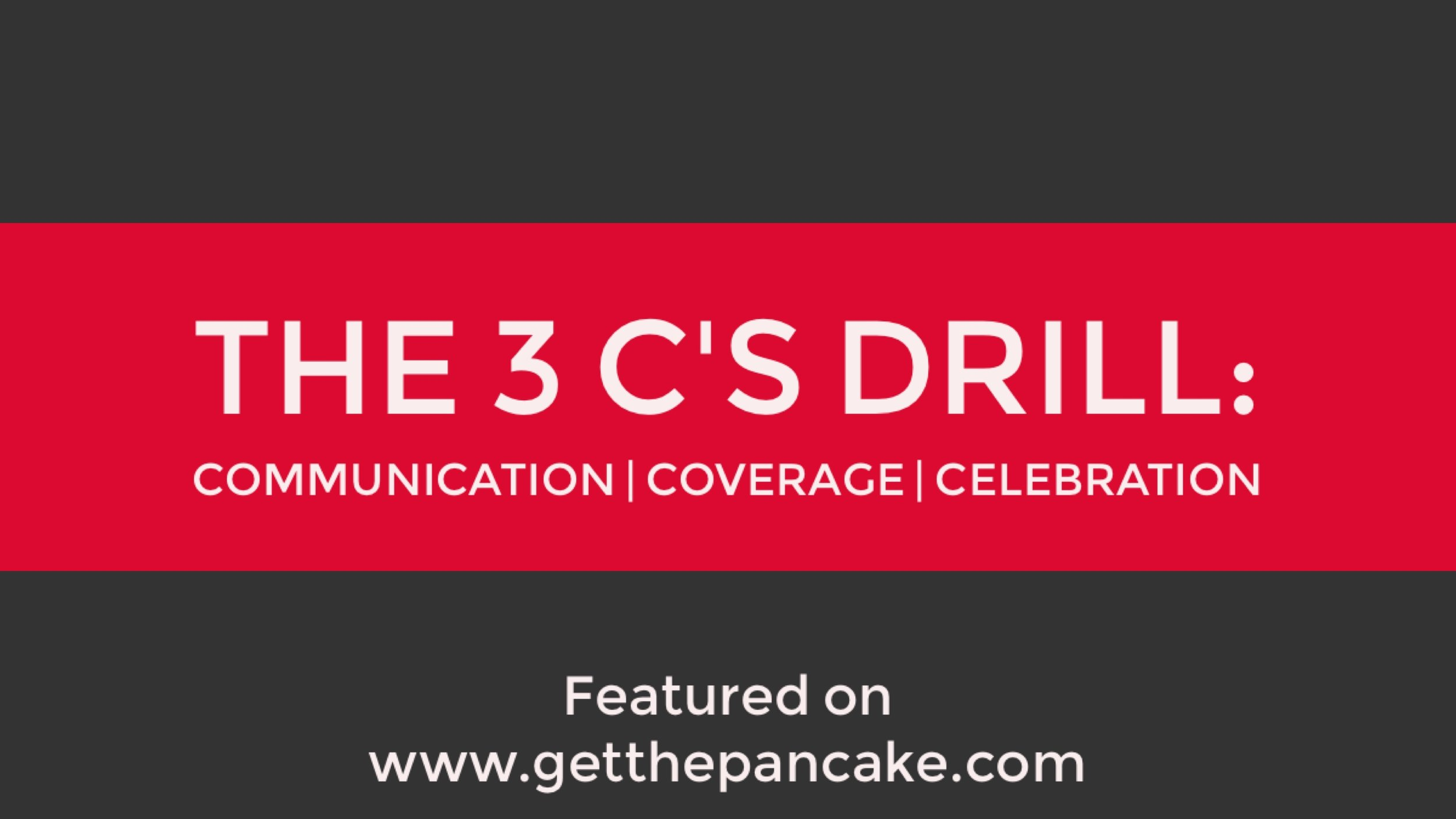 The 3 C's Drill: Communication, Coverage, and Celebration